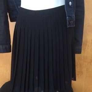 Loft Pleated Circle Skirt NWT